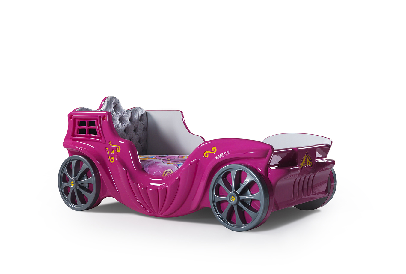 childrens pink princess car bed for girls bed frame